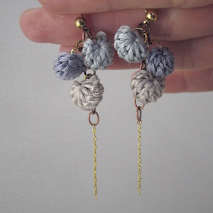 House in the Moon Crochet Earrings