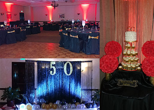 50th birthday party lighting