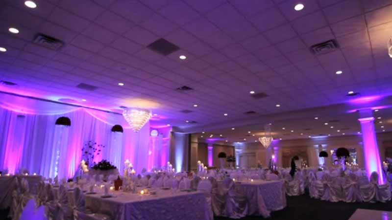 Michigan up lighting rental for Diy wedding reception lighting