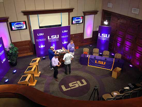 Lsu senate debate lighting