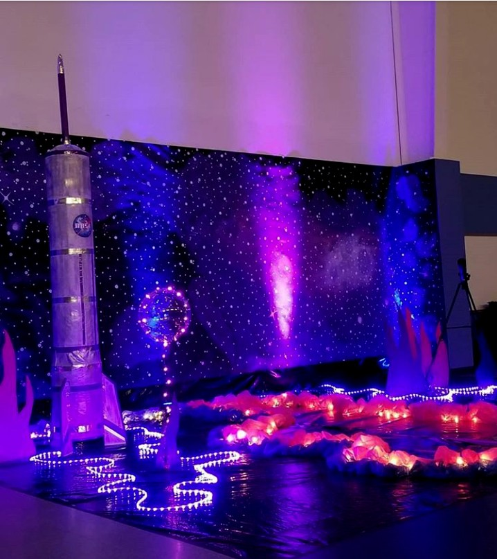 Lighting for galaxy a celestial voyage party theme