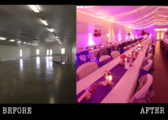 Wv uplighting rental