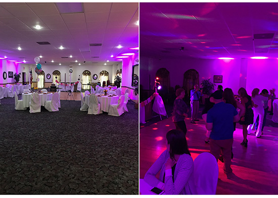 Waterbury uplighting rental
