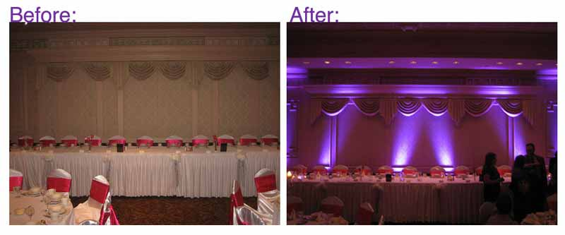 Before after uplighting