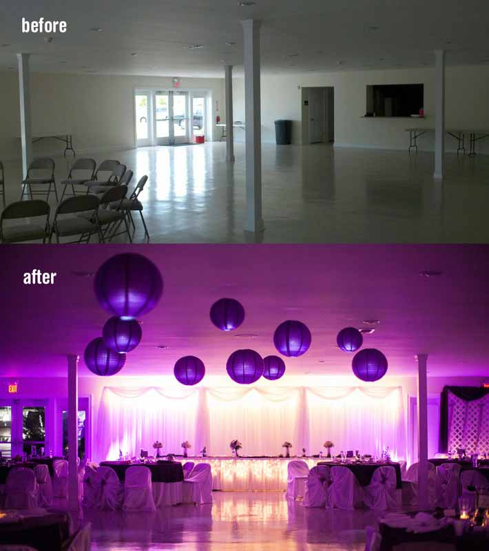 Virginia Up Lighting Rental