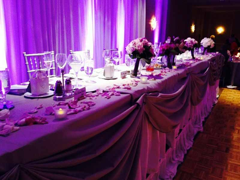 Classy wedding lighting effect