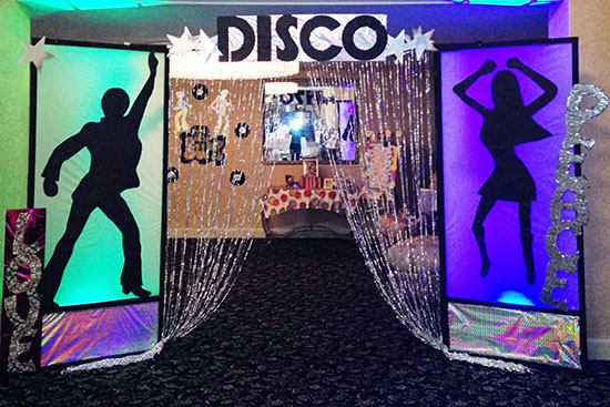 Disco theme party lighting