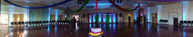 Lighting at a garba