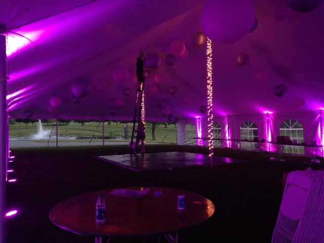 Purple tent lights