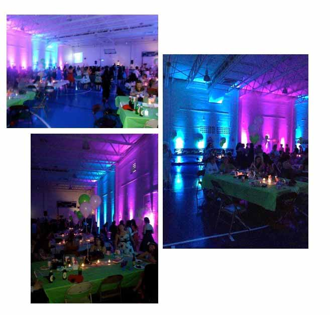 Diy Led Uplighting Rental Atlanta: Dressing Up A Gym With 24 Lights