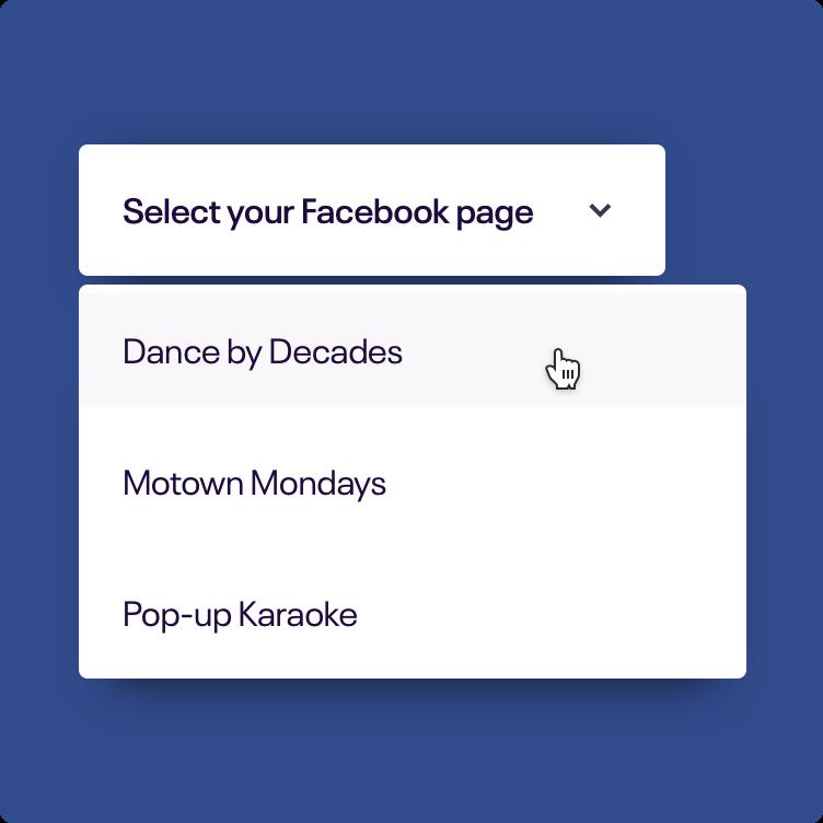 选择你的Facebook页面