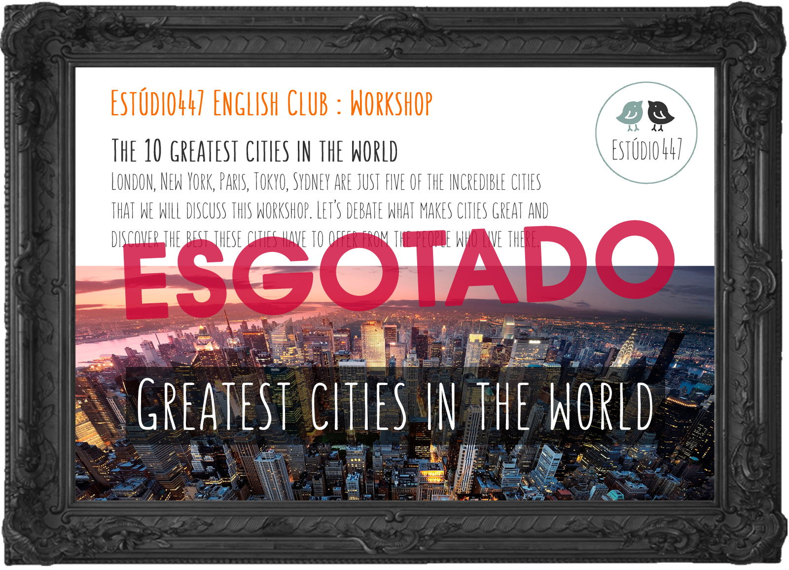 The greatest cities in the world poster - esgotado.jpg