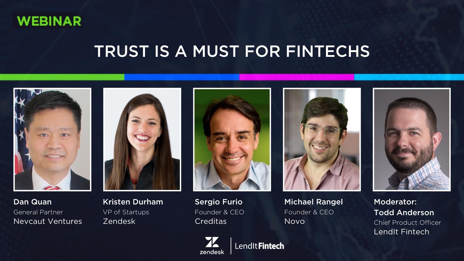 Trust is a Must for Fintechs - Webinar