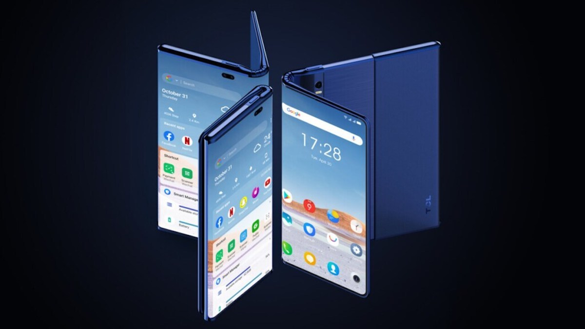 TCL teased a phone that both folds and rolls