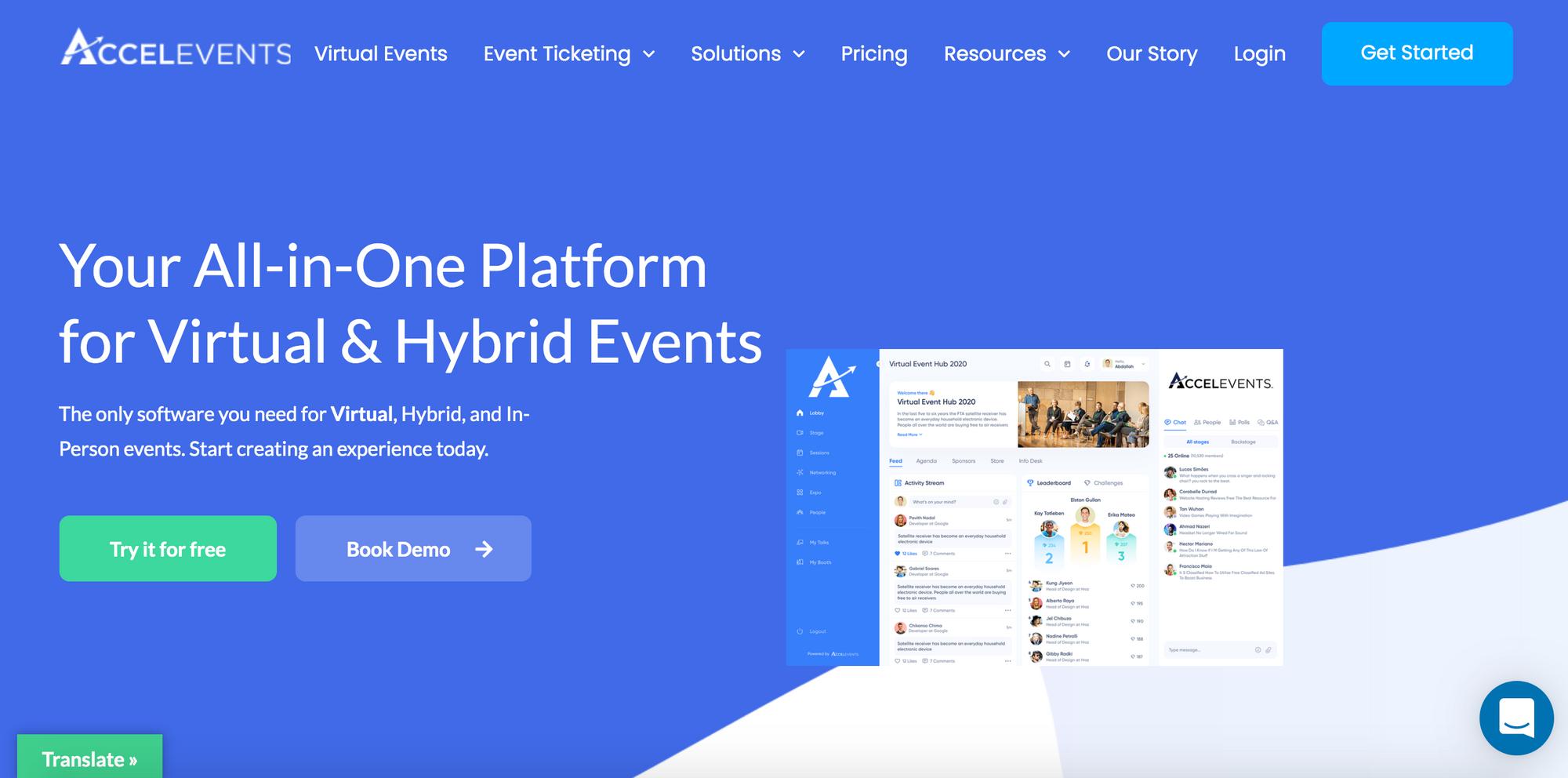 Accelevents - Best Virtual Conference Platforms via EventSprout