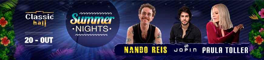 SUMMER NIGTHS NO CLASSIC HALL COM NANDO REIS