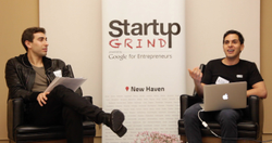 "YouTube video, ""Startup Grind in New Haven hosts Mahbod Moghadam - Everipedia, ex-Rap Genius"", 12/24/2015, ~ 37 mins.: Interview with Stanford Law grad and an Everipedia founder - Mahbod Moghadam."
