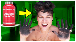 DYING MY HAIR *BLACK* w/ CHARCOAL!!! *It Works*