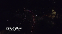 Drone view of the evening march