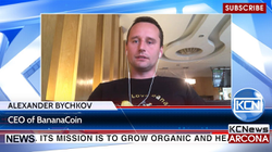 Interview with Aleksander Bychkov, CEO of BananaCoin on KCN News