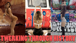 "Lexy Panterra ""twerking through history"" (via                               Playboy                              ​)"