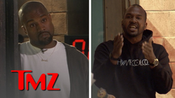 Van Lathan gets into a heated conversation Kanye West at                               TMZ                              