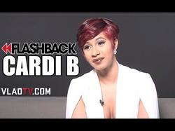 "Cardi B says, ""                               I Became a Stripper to Escape Domestic Violence"" (via                                 VladTV                                )"