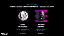 David Schwartz CTO of                               Ripple                              talks to Dimitar Mihov about the Challenges of                               Interoperability                              ​ and                               Decentralisation                              ​ at the                               TNW                              Conference.