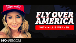 Millie Weaver announces her new project,  Flying over America