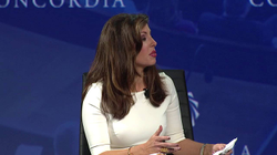 Morgan Ortagus moderated a panel onThe State Of American Politics held by  Concordia