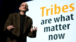 "Seth Godin                              ​'s                               TED Talk                              : ""The Tribes We Lead""; he argues that the Internet has ended mass marketing and revived tribes (a human social unit from the distant past)"