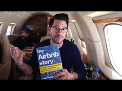 "Lopez's 2-minute review of                               The Airbnb Story                              ; he discusses the concept of ""turning your mess into your message"""