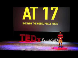 Ziad Ahmed giving a TED talk