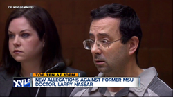 150+ women come foward with allegations against Dr. Larry Nassar.