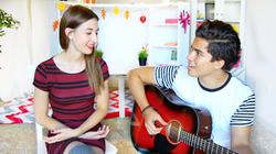 "Alex Aiono &                               Meg DeAngelis                              's cover of                               Ariana Grande                              ​ &                               The Weeknd                              ​'s ""                               Love Me Harder                              ​"""