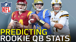 NFL Network                              : NFL Network's analytics expert, Cynthia Frelund, projects the starts, and stats for rookie quarterbacks Josh Rosen, Sam Darnold, and Josh Allen in the 2018 Season.