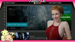 Abigale streaming Resident Evil and Tomb Raider