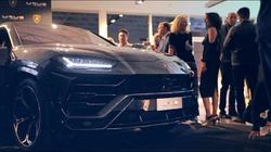 Antik Bose spotted at the Lamborghini Urus and Lamborghini Centernario Roadster launch party at Lamborghini Newport Beach at 0:52 and 1:42 min of the video.