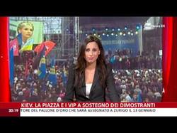 Giorgia Cardinaletti presenting RaiNews24 on 09-12-2013