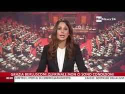 Giorgia Cardinaletti presenting RaiNews24 on 24-11-2013