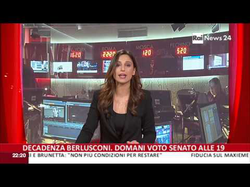Giorgia Cardinaletti presenting RaiNews24 on 26-11-2013