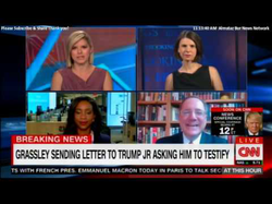 Susan Hennessey,  Abby Phillip  ​, and  David E. Sanger  ​ on CNN discussing the Senate Judiciary Committee sending a letter to  Donald Trump Jr.  ​ requesting him to testify in a public session