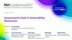 Susan Hennessey is part of an  RSA Conference  ​ (February 2017); she discusses how governments can build accountable sustainable processes that catalyze security