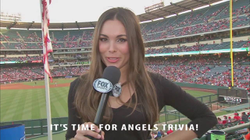 Brie Thiele talking challenging Angels fans with trivia on FOX Sports West