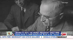 CNN                                    ​: Obama is (not) the worst president ever