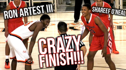 Shareef O'Neal VS                               Ron Artest III                              PART 2: RON'S REVENGE! | Crossroads VS Beverly Hills CRAZY GAME.