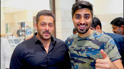 Mo Vlogs video of him meeting Salman Khan