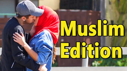 """h3h3 Productions                              reacts to Prank Invasion's """"Kissing Prank - Muslim Edition"""""""