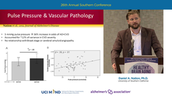 "Daniel Nation presenting at the 26th Annual Southern California Alzheimer's Disease Research Conference - ""The Role of Vascular Aging in Cognitive Decline and Alzheimer's Disease"" (2015)"