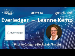 verledger Pitch by Leanne Kemp in Blockchain / Bitcoin category at European FinTech Awards 2016